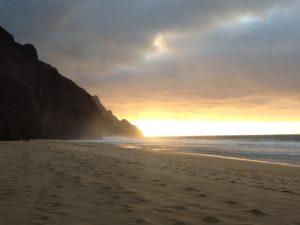 Storm coming in at Kalalau Beach