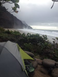 Campsite at Kalalau Beach