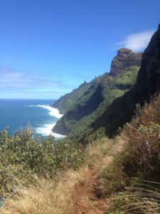 coastline view on kalalau trail