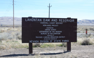Lahontan Reservoir Sign