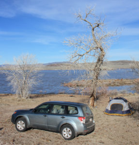Camping at Lahontan Reservoir